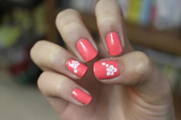 50 flower nail art designs art and design vintage flowers and polka dots on stripe gingham prinsesfo Choice Image