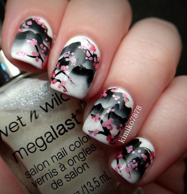 flower nail art-1