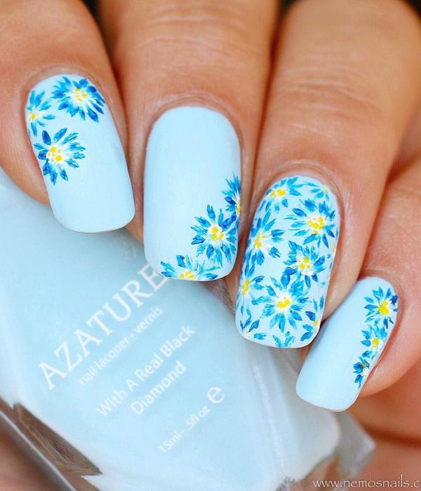 50 flower nail art designs art and design
