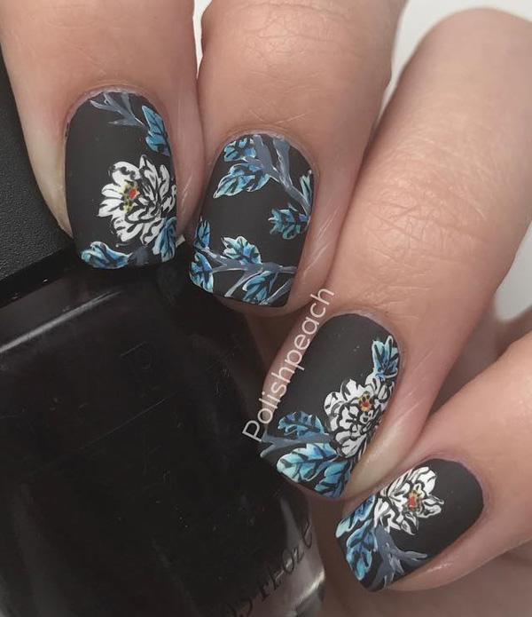 flower-nail-art - 50 Flower Nail Art Designs ... - 50 Flower Nail Art Designs Art And Design
