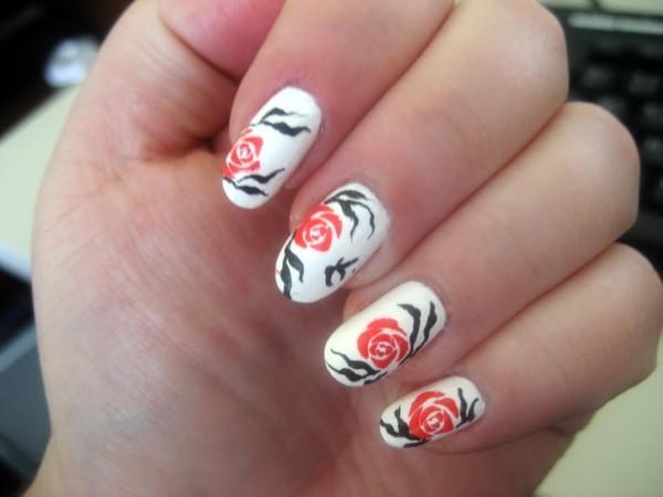 50 Flower Nail Art Designs Art And Design