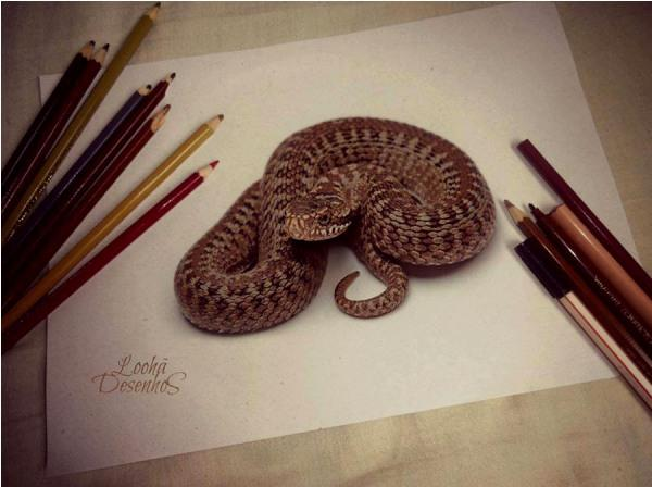 Snake 3D drawing