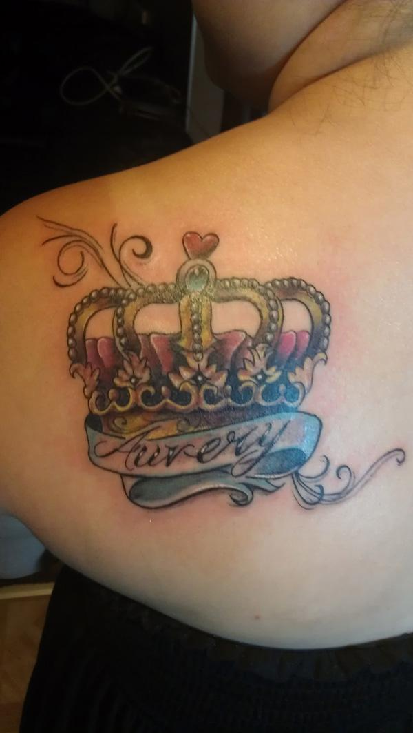 Name With Crown Tattoo Designs 50 Meaningful Crown Ta...