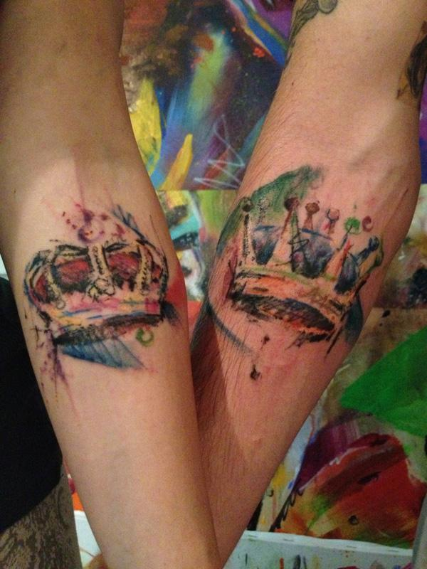 Gallery For gt His And Her Crown Tattoos