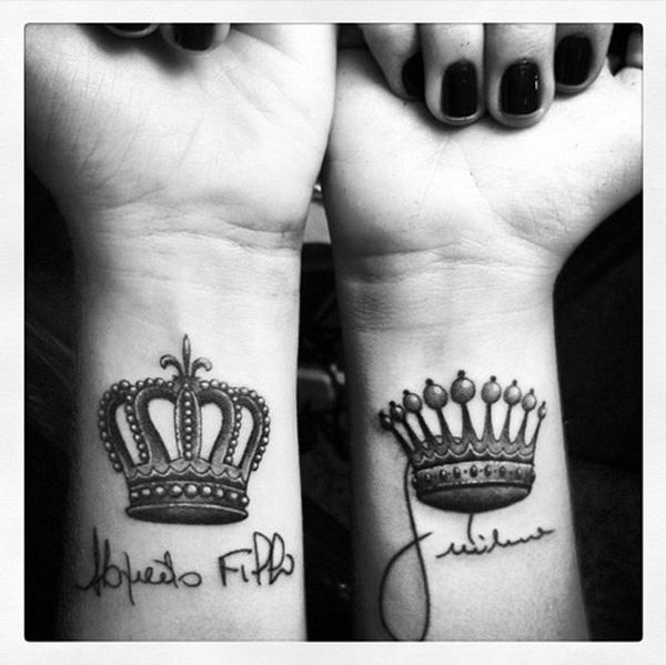 Queen And King Tattoos Tumblr Couple Tattoos ...