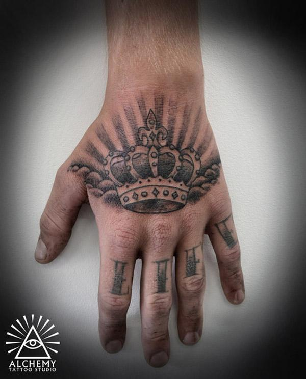 King Crown Tattoos On Finger