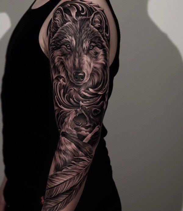 90 Wolf Tattoo Designs Cuded