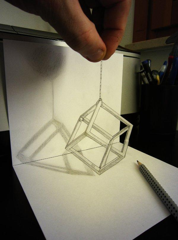 Double Illusion 3D drawing by Alessandro Diddi