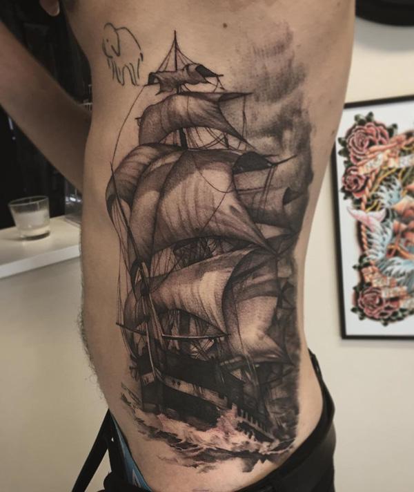 Baot side tattoo for men-92