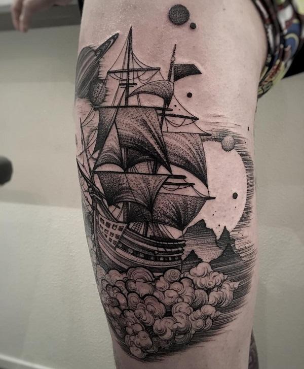 3325e4217 100 Boat Tattoo Designs | Art and Design