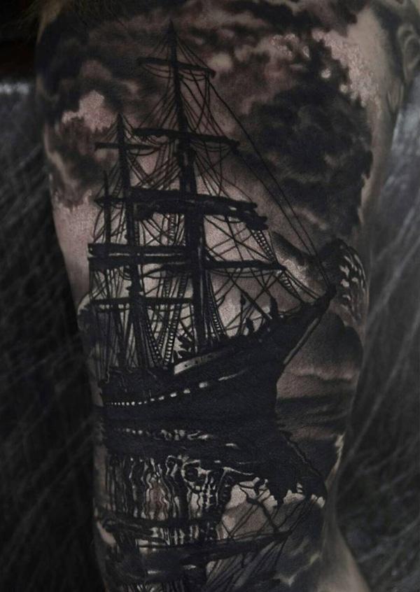 Boat leg tattoo-99