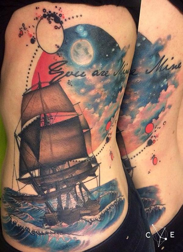 Boat side tattoo-65