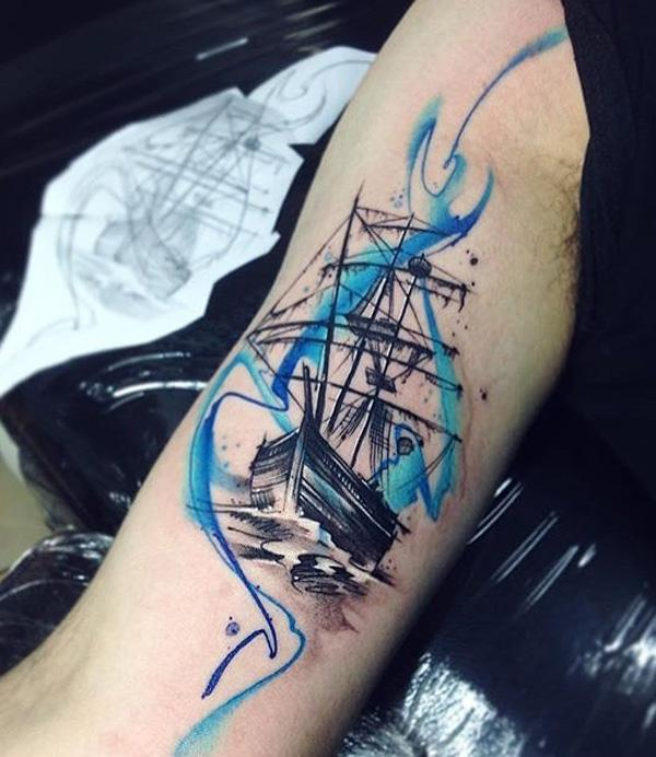 Boat sleeve tattoo-76