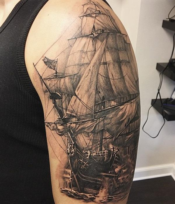 Boat sleeve tattoo for men-91