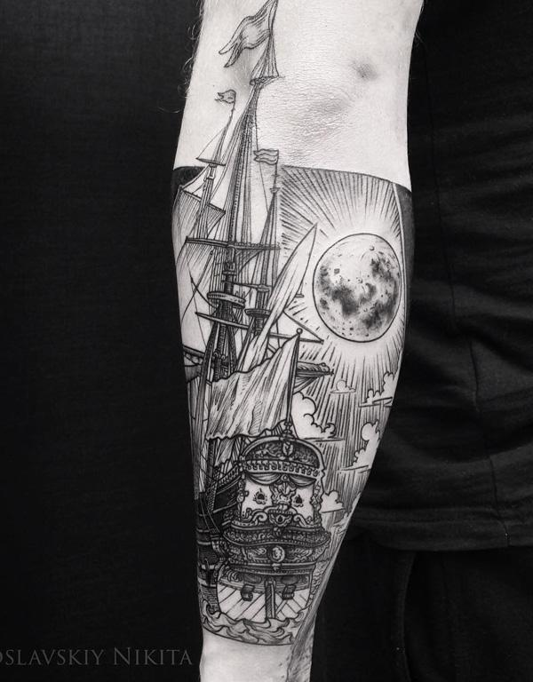 Boat tattoo-49