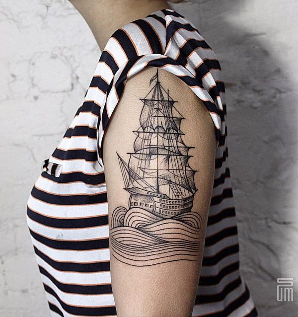 Boat tattoo-60