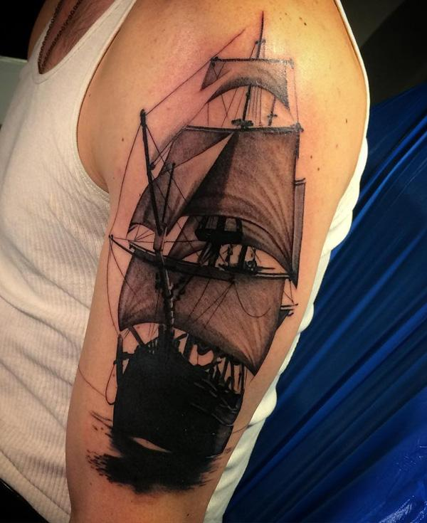 Boat tattoo-75