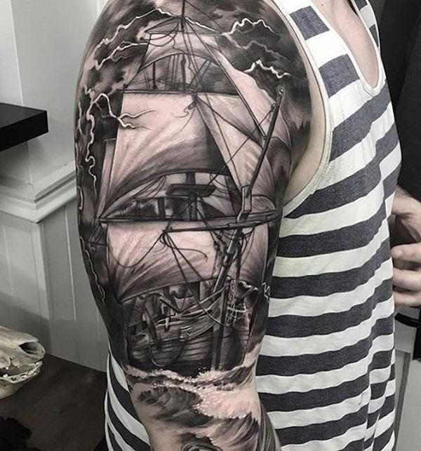 Boat tattoo-80