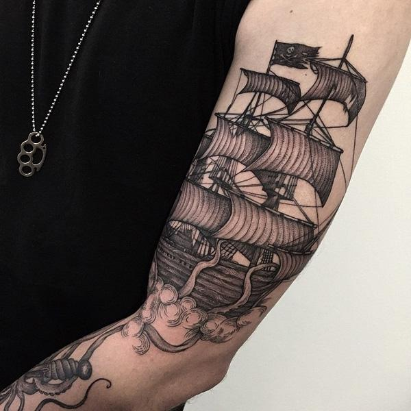 Boat tattoo-89