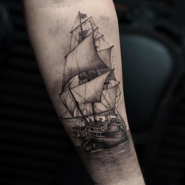 3325e4217 100 Boat Tattoo Designs | Art and Design