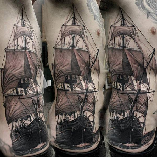 Boat tattoo46