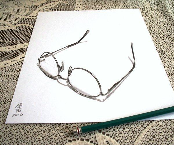 My Mother Glasses 3D drawing by Carmen Harada