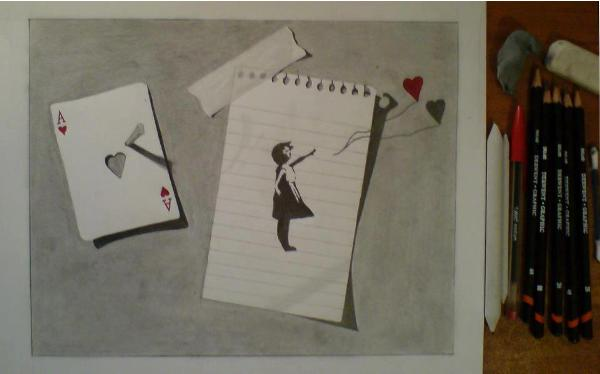 Ace of Hearts 3D drawing by Giannis Anogianakis