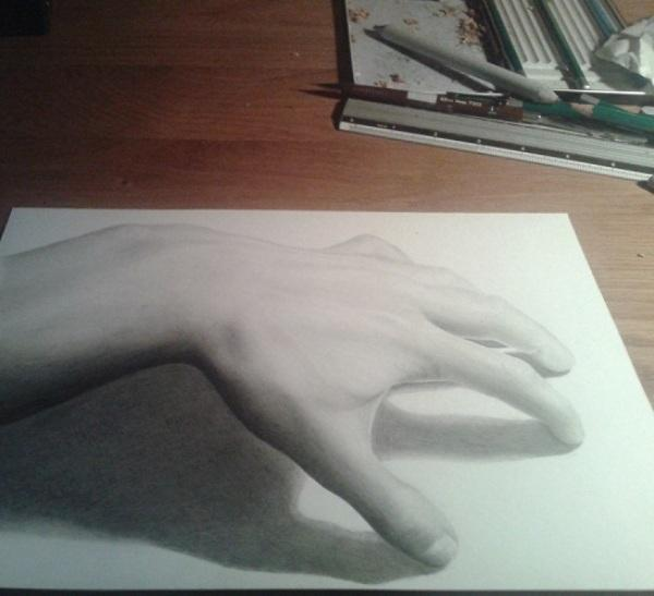 Hand 3D drawing by Jeroen88