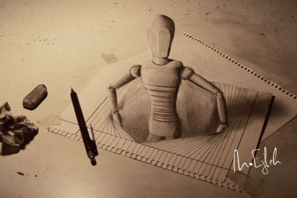 C3PO 3D drawing by Muhammad Ejleh