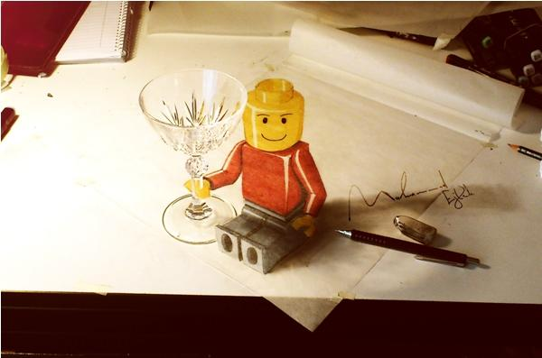 LEGO Man 3D drawing by Muhammad Ejleh