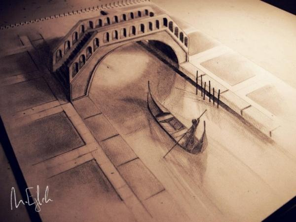 Venice 3D drawing by Muhammad Ejleh  title=