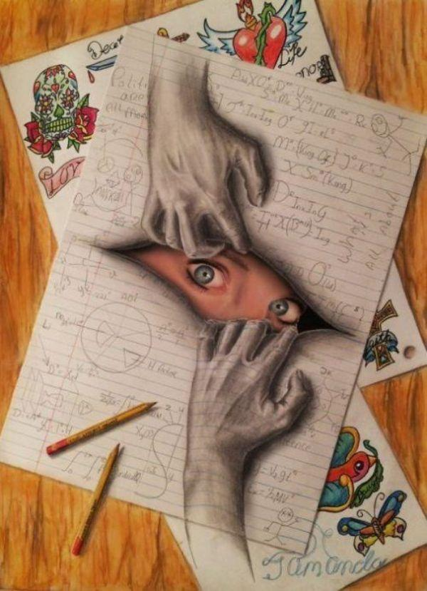 Eye 3D drawing by Ramon Bruin