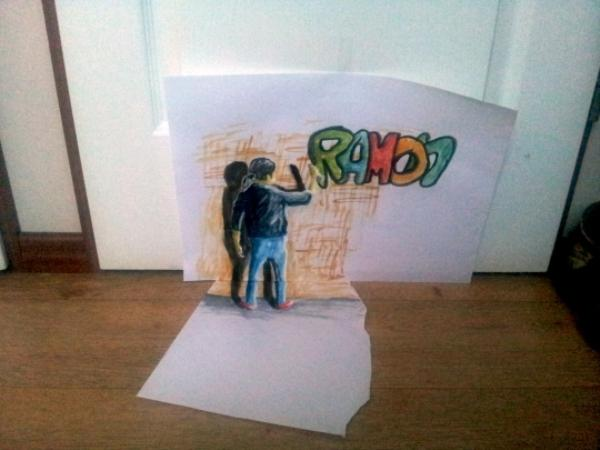 Graffiti 3D drawing by Ramon Bruin
