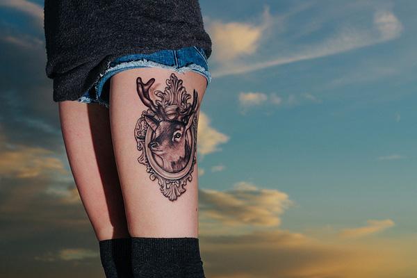 d68fb1119 45 Inspiring Deer Tattoo Designs | Art and Design