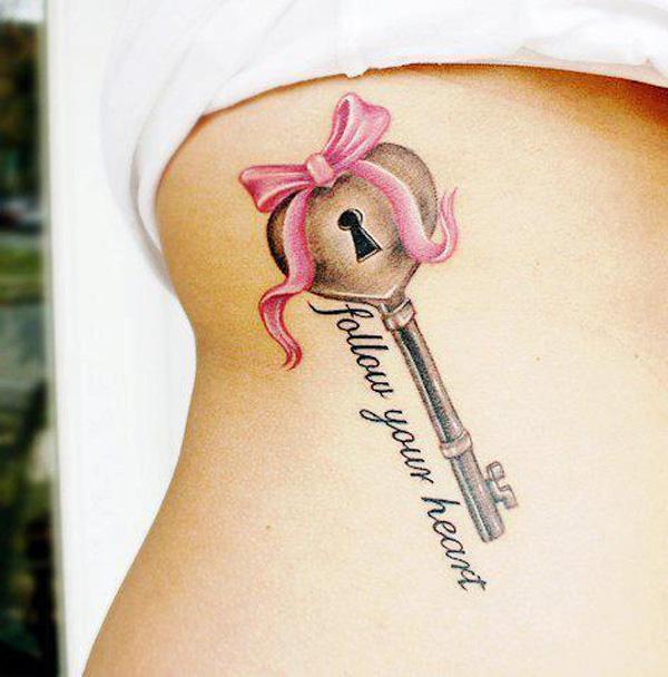 Lock n key tattoo