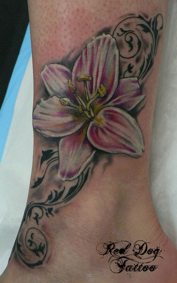 05eaf719b16e0 Andrew After Cover Up. Ankle Lily - 60+ Ankle Tattoos for Women <3 <3 ...