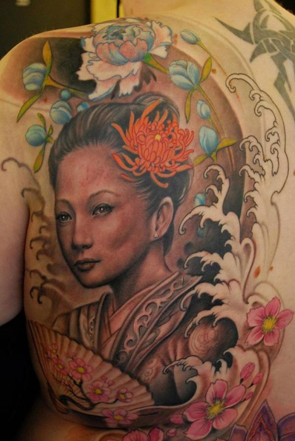 Geisha Woman Tattoo