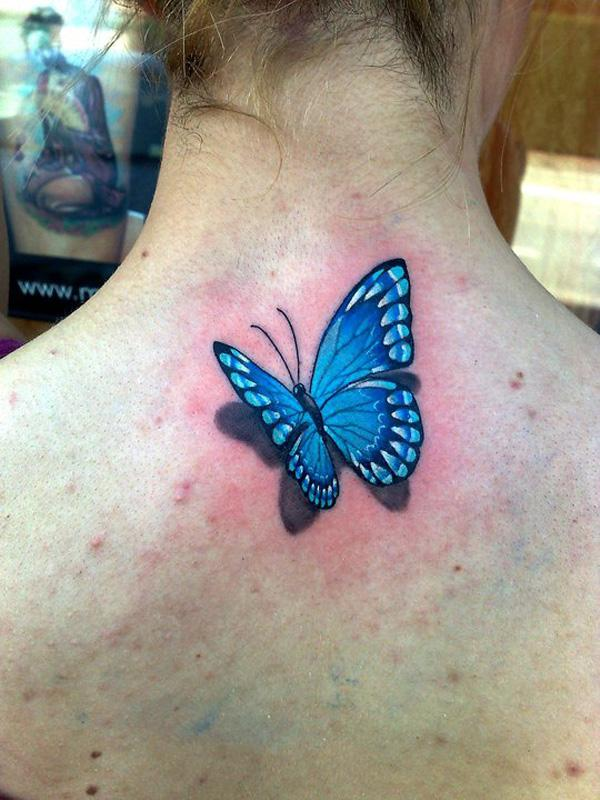 38 3D Butterfly Tattoo