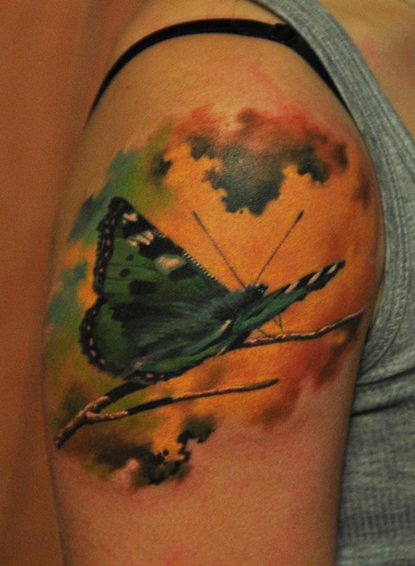 39 3D Butterfly Tattoo