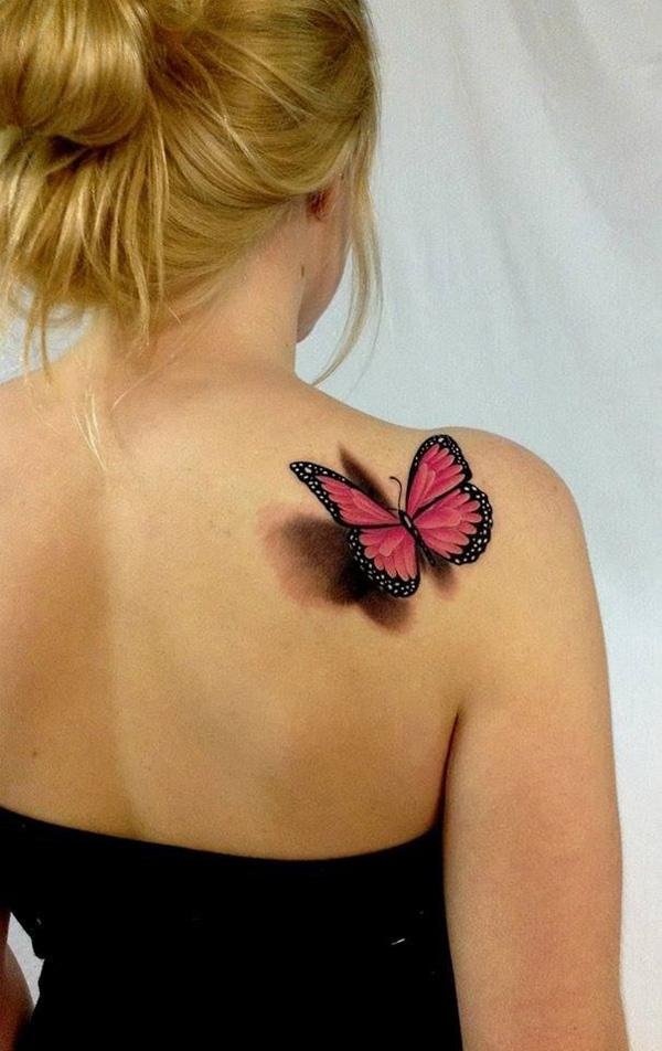 a5ce6295f D Butterfly Tattoos - 45+ Incredible 3D Butterfly Tattoos <3 <3 ...