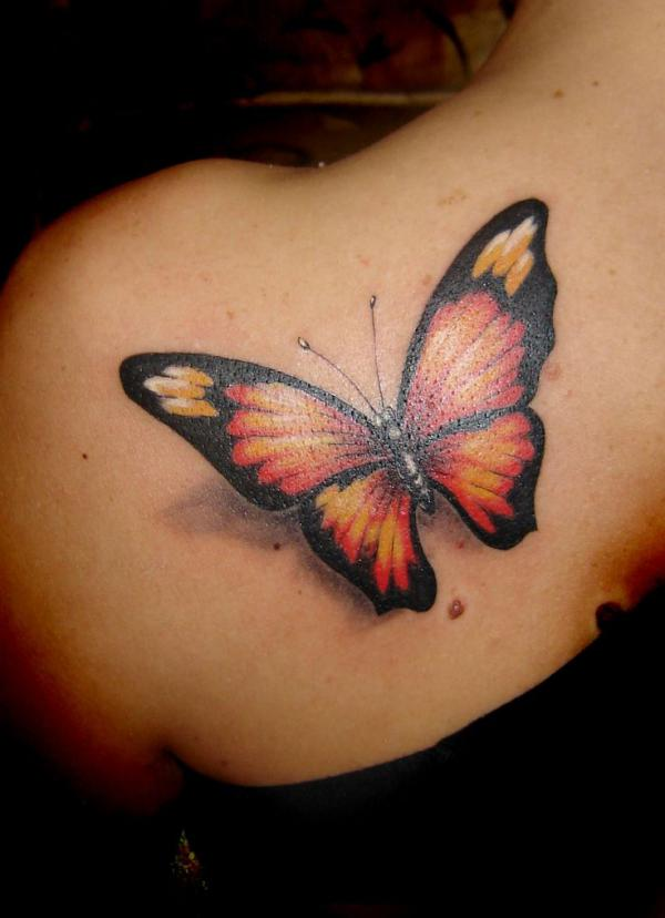 45+ Incredible 3D Butterfly Tattoos | Art and Design