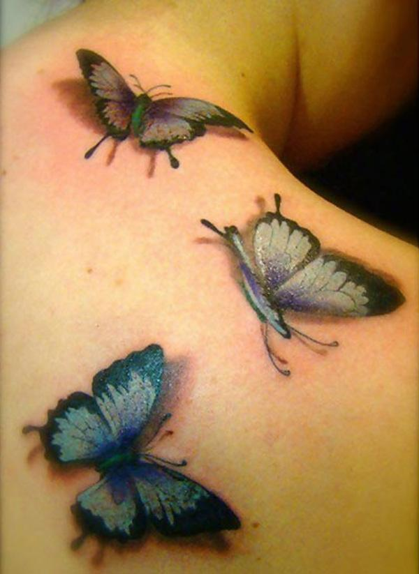 4272be72a D Butterfly Tattoos - 45+ Incredible 3D Butterfly Tattoos <3 <3 ...