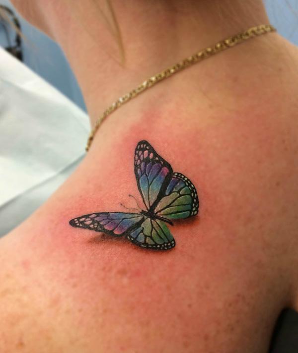 bộ siêu tập những hình xăm nghệ thuật con bướm đẹp nhất  Incredible 3D Butterfly Tattoos