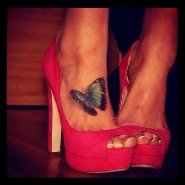 45+ Incredible 3D Butterfly Tattoos - 27.2KB