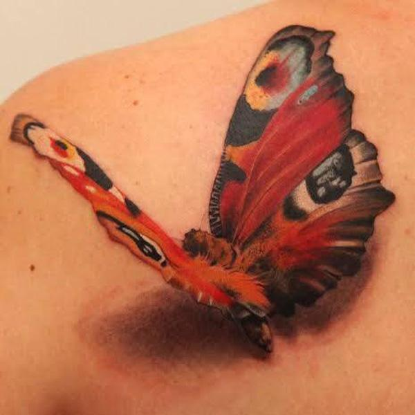42 3D Butterfly Tattoo