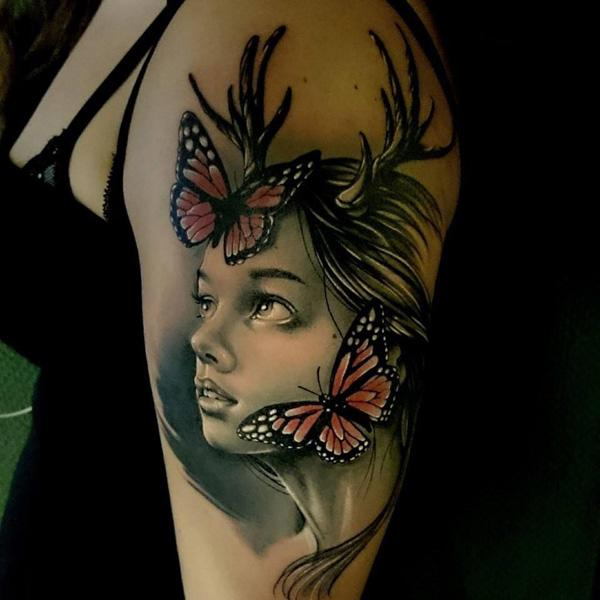 46 3D Butterfly Tattoo