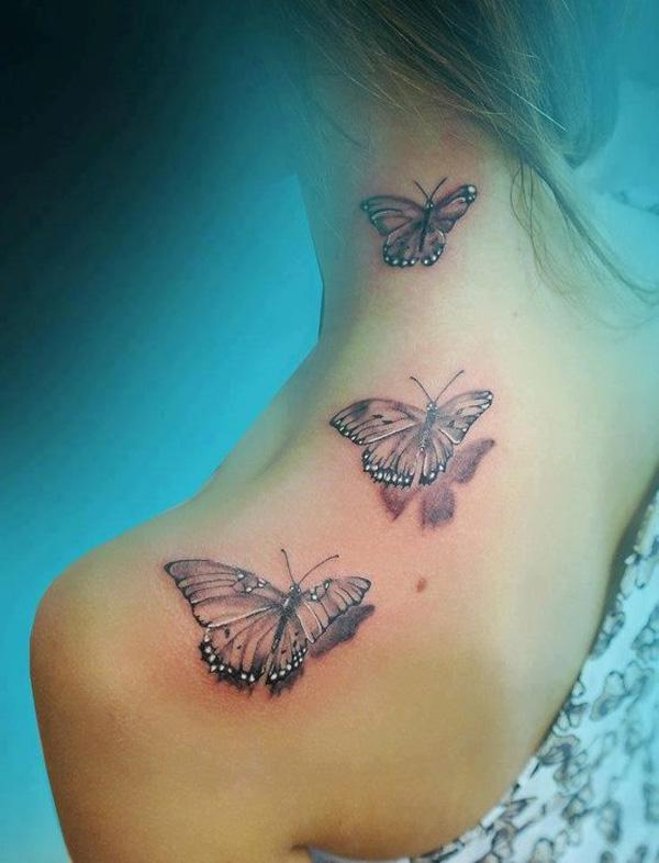 47 3D Butterfly Tattoo