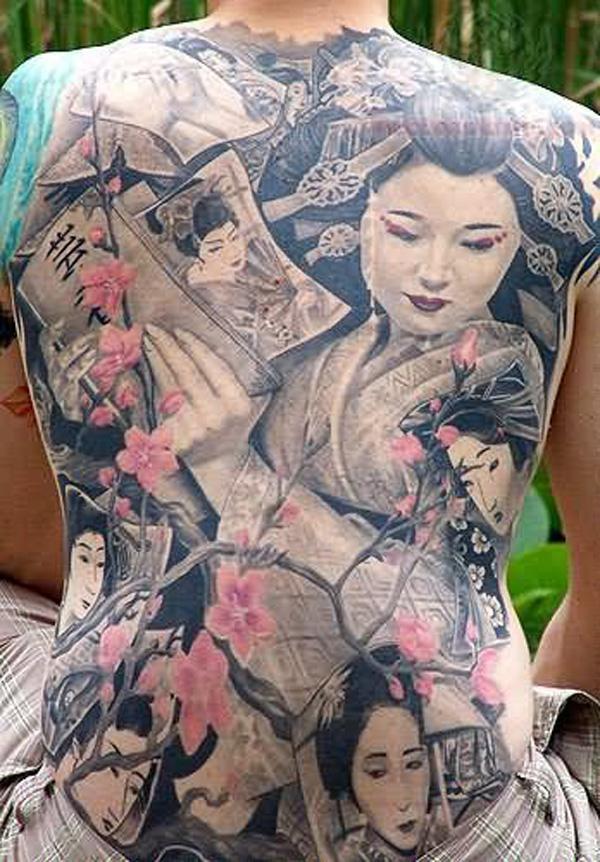 Fullback Geisha Tattoo