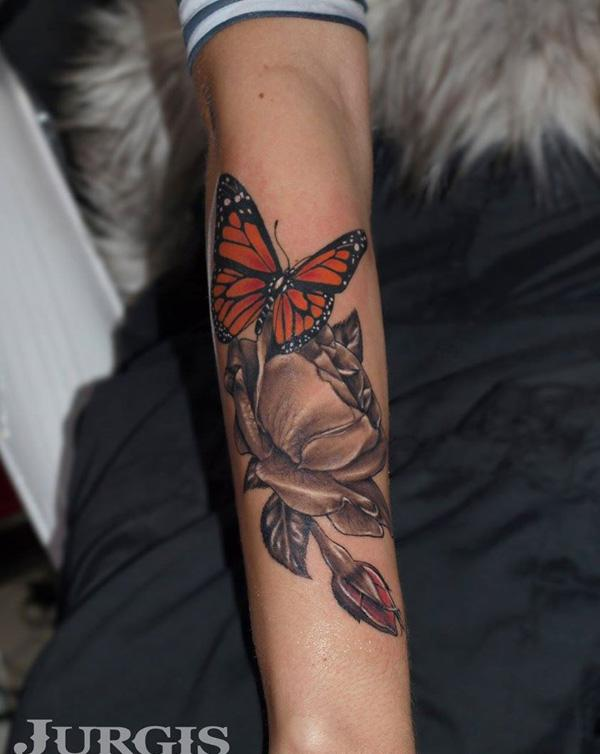 48 3D Butterfly Tattoo