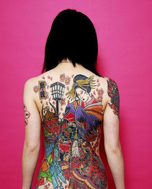 Tradition Japanese Geisha Tattoo